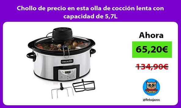 Chollo de precio en esta olla de cocción lenta con capacidad de 5,7L