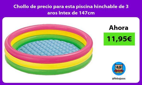 Chollo de precio para esta piscina hinchable de 3 aros Intex de 147cm