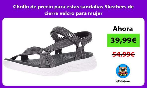 Chollo de precio para estas sandalias Skechers de cierre velcro para mujer