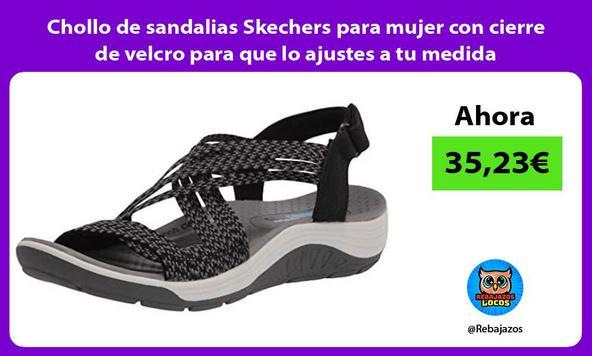 Chollo de sandalias Skechers para mujer con cierre de velcro para que lo ajustes a tu medida