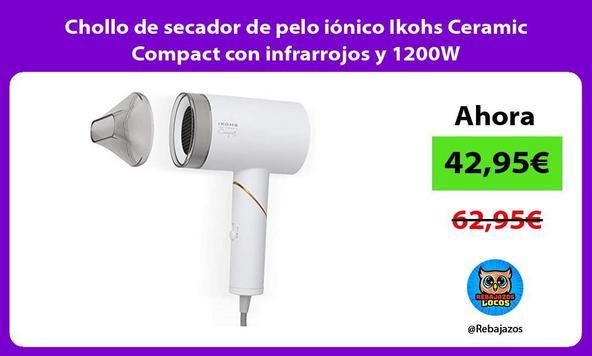 Chollo de secador de pelo iónico Ikohs Ceramic Compact con infrarrojos y 1200W