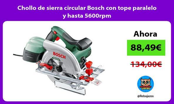 Chollo de sierra circular Bosch con tope paralelo y hasta 5600rpm
