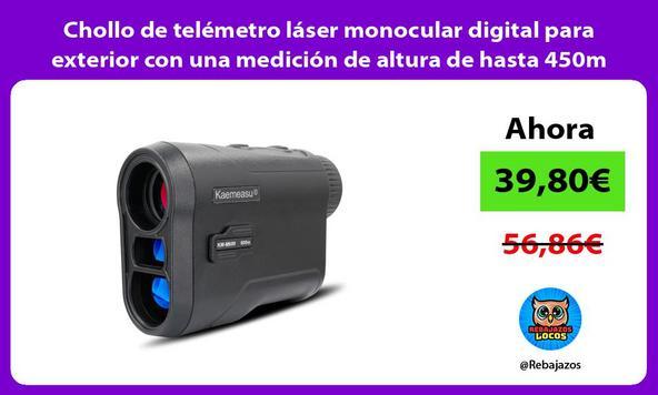Chollo de telémetro láser monocular digital para exterior con una medición de altura de hasta 450m