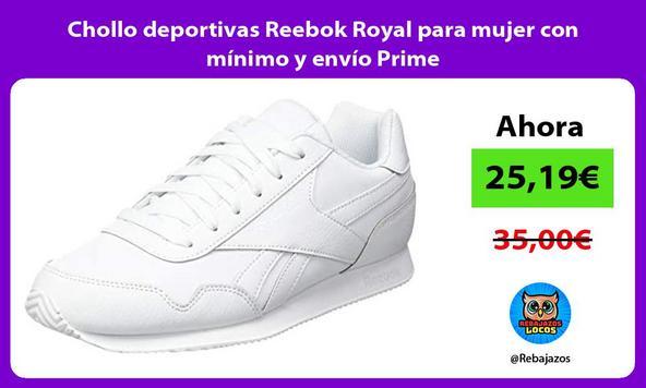Chollo deportivas Reebok Royal para mujer con mínimo y envío Prime