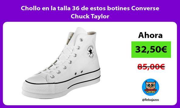 Chollo en la talla 36 de estos botines Converse Chuck Taylor