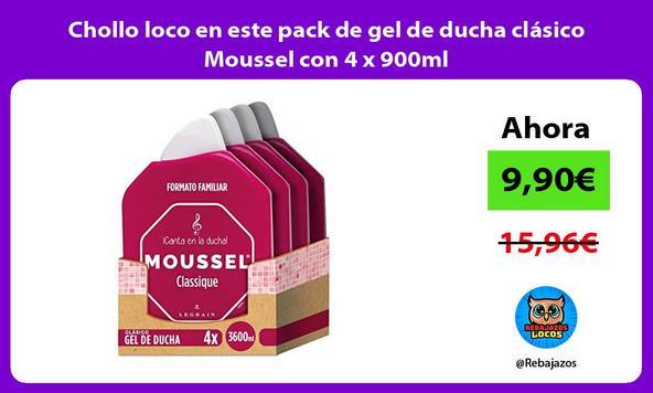 Chollo loco en este pack de gel de ducha clásico Moussel con 4 x 900ml