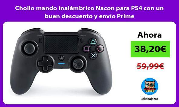 Chollo mando inalámbrico Nacon para PS4 con un buen descuento y envío Prime