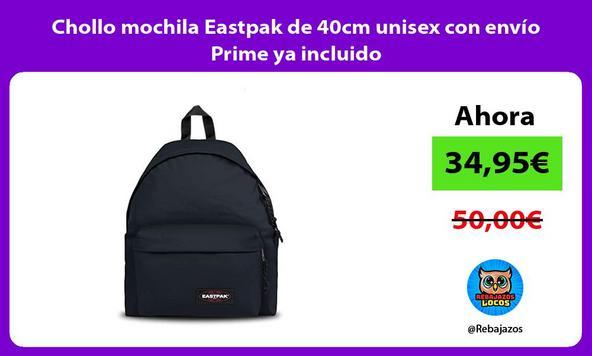 Chollo mochila Eastpak de 40cm unisex con envío Prime ya incluido