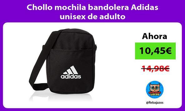 Chollo mochila bandolera Adidas unisex de adulto