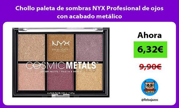 Chollo paleta de sombras NYX Profesional de ojos con acabado metálico
