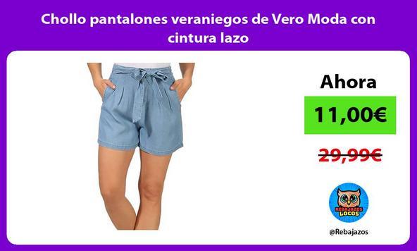 Chollo pantalones veraniegos de Vero Moda con cintura lazo/