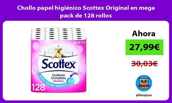 Chollo papel higiénico Scottex Original en mega pack de 128 rollos