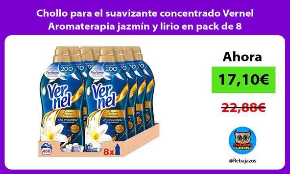 Chollo para el suavizante concentrado Vernel Aromaterapia jazmín y lirio en pack de 8