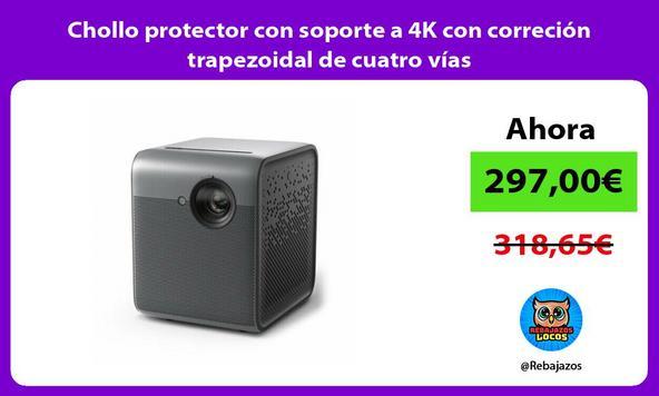 Chollo protector con soporte a 4K con correción trapezoidal de cuatro vías
