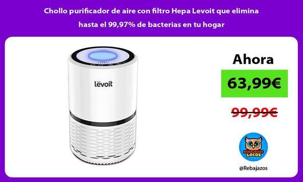 Chollo purificador de aire con filtro Hepa Levoit que elimina hasta el 99,97% de bacterias en tu hogar