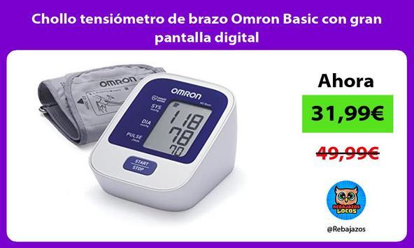 Chollo tensiómetro de brazo Omron Basic con gran pantalla digital