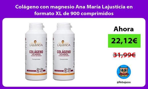 Colágeno con magnesio Ana María Lajusticia en formato XL de 900 comprimidos