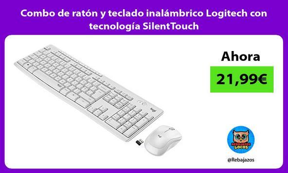 Combo de ratón y teclado inalámbrico Logitech con tecnología SilentTouch