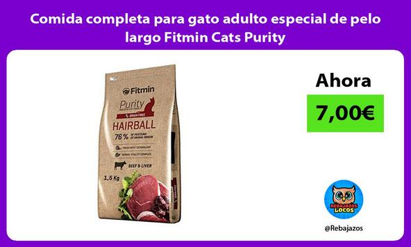 Comida completa para gato adulto especial de pelo largo Fitmin Cats Purity