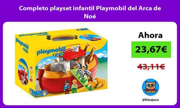 Completo playset infantil Playmobil del Arca de Noé