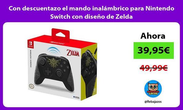 Con descuentazo el mando inalámbrico para Nintendo Switch con diseño de Zelda