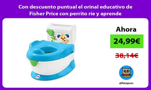 Con descuento puntual el orinal educativo de Fisher Price con perrito ríe y aprende