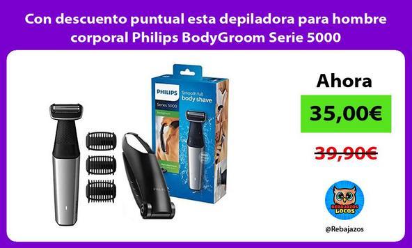 Con descuento puntual esta depiladora para hombre corporal Philips BodyGroom Serie 5000