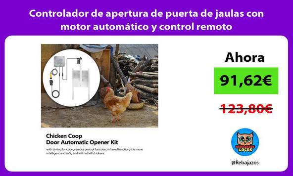 Controlador de apertura de puerta de jaulas con motor automático y control remoto
