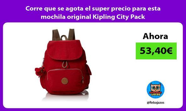 Corre que se agota el super precio para esta mochila original Kipling City Pack