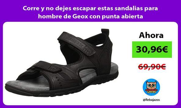 Corre y no dejes escapar estas sandalias para hombre de Geox con punta abierta