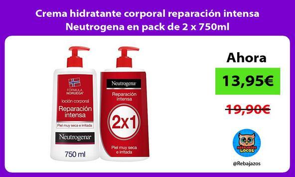 Crema hidratante corporal reparación intensa Neutrogena en pack de 2 x 750ml