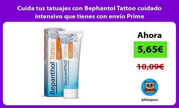 Cuida tus tatuajes con Bephantol Tattoo cuidado intensivo que tienes con envío Prime