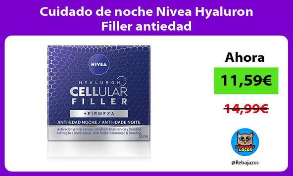 Cuidado de noche Nivea Hyaluron Filler antiedad