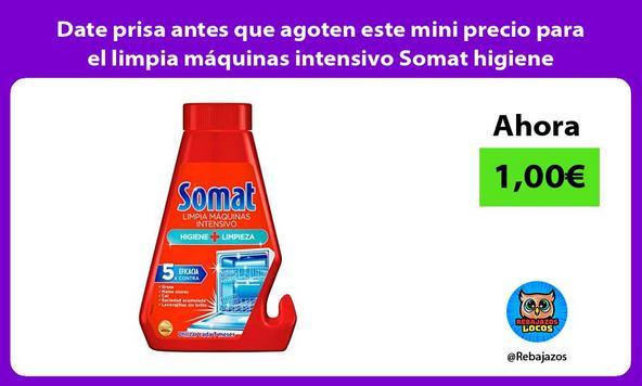 Date prisa antes que agoten este mini precio para el limpia máquinas intensivo Somat higiene