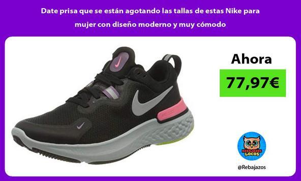 Date prisa que se están agotando las tallas de estas Nike para mujer con diseño moderno y muy cómodo