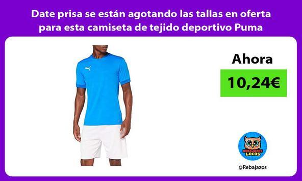 Date prisa se están agotando las tallas en oferta para esta camiseta de tejido deportivo Puma