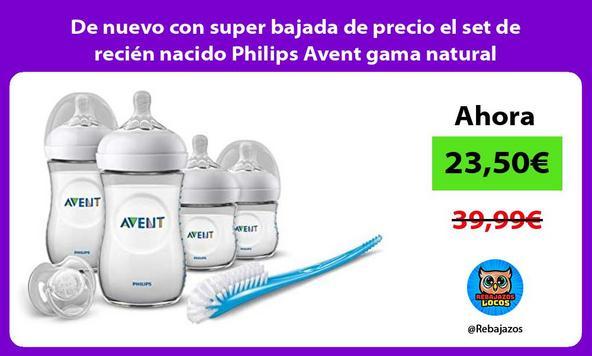 De nuevo con super bajada de precio el set de recién nacido Philips Avent gama natural