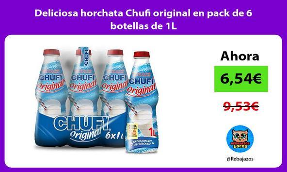 Deliciosa horchata Chufi original en pack de 6 botellas de 1L
