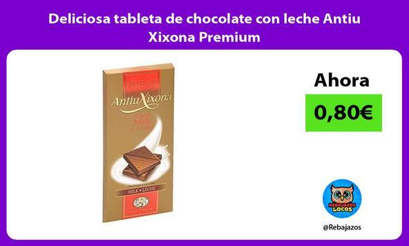 Deliciosa tableta de chocolate con leche Antiu Xixona Premium
