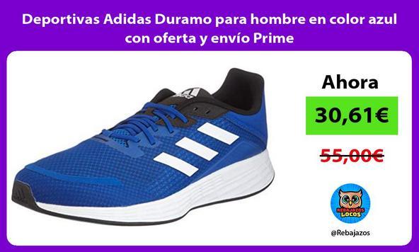Deportivas Adidas Duramo para hombre en color azul con oferta y envío Prime