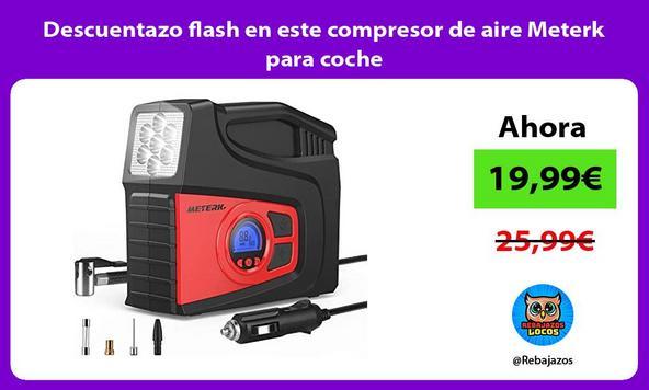 Descuentazo flash en este compresor de aire Meterk para coche