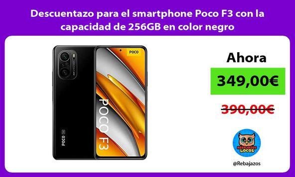 Descuentazo para el smartphone Poco F3 con la capacidad de 256GB en color negro