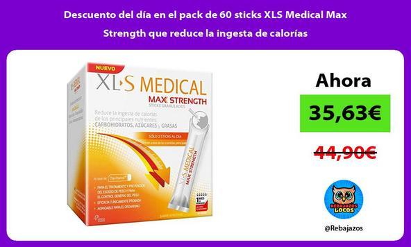 Descuento del día en el pack de 60 sticks XLS Medical Max Strength que reduce la ingesta de calorías