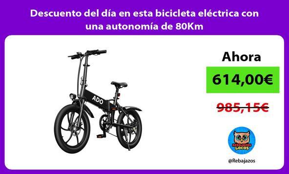 Descuento del día en esta bicicleta eléctrica con una autonomía de 80Km
