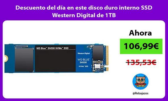 Descuento del día en este disco duro interno SSD Western Digital de 1TB