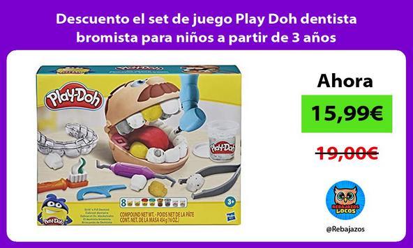 Descuento el set de juego Play Doh dentista bromista para niños a partir de 3 años