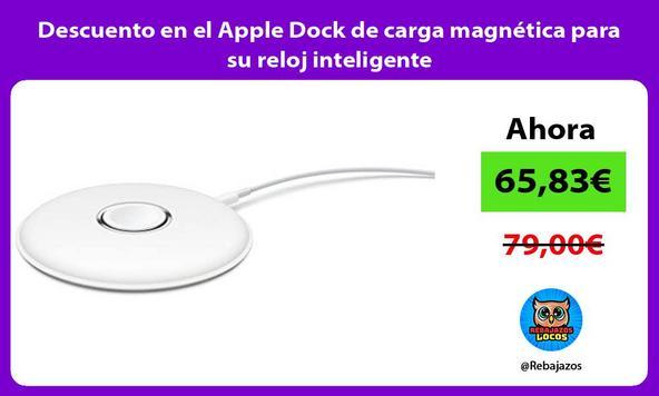 Descuento en el Apple Dock de carga magnética para su reloj inteligente