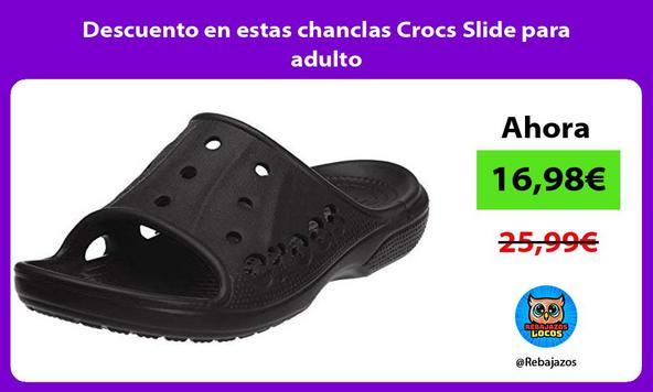 Descuento en estas chanclas Crocs Slide para adulto