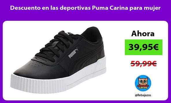 Descuento en las deportivas Puma Carina para mujer