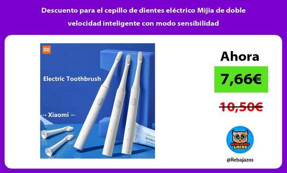 Descuento para el cepillo de dientes eléctrico Mijia de doble velocidad inteligente con modo sensibilidad